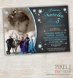 Frozen Birthday Invitation Frozen Birthday by PixelPerfectShoppe, $10.00