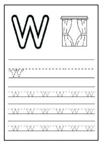 Uppercase Letter W Worksheet / Free Printable   Preschool And Kindergarten  | Worksheets, Letter Worksheets And Alphabet Worksheets
