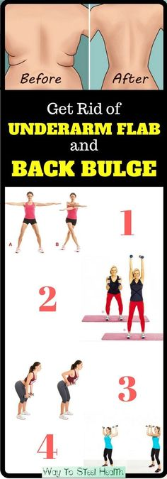 4 Quick Exercises to Get Rid of Underarm Flab and Back Bulge in 3 Weeks amzn.to/… 4 Quick Exercises to Get Rid of Underarm Flab and Back Bulge in 3 Weeks Fitness Workouts, Fitness Motivation, Sport Fitness, At Home Workouts, Fitness Shirts, Exercise Motivation, Easy Workouts, Fitness Models, Dieta Fitness