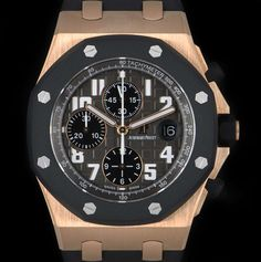 For Sale / Watches - Audemars Piguet Audemars Piguet Gold, Audemars Piguet Diver, Luxury Watches, Rolex Watches, Royal Oak Offshore Chronograph, Pre Owned Watches, Watch Sale, 18k Rose Gold, Black Rubber