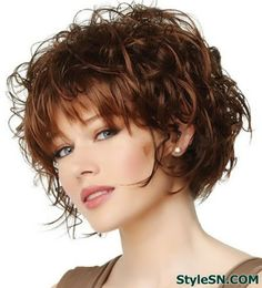 Cute curly hairstyles for short hair -StyleSN Dont think i could pull this off but I love this!