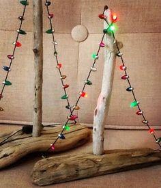Indoor Christmas Lights Ideas with a Nautical & Beach Theme