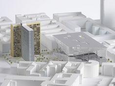 BIG, OMA y Büro-Ost compiten por el Campus de New Media en Berlín,Propuesta de OMA. Imagen cortesía de OMA