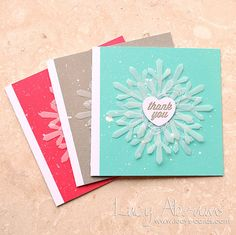 Hero Arts Cardmaking Idea: Winter Thanks Card Set Chrismas Cards, Christmas Cards To Make, Xmas Cards, Christmas Holiday, Holiday Cards, Wedding Cards Handmade, Beautiful Handmade Cards, Stampin Up Weihnachten, Hero Arts Cards