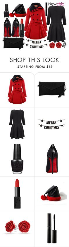 """Merry Christmas & Happy Holidays"" by j-n-a ❤ liked on Polyvore featuring OPI, Christian Louboutin, NARS Cosmetics, Bling Jewelry and Surratt"