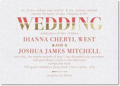 Direct Devotion - Shimmer Wedding Invitations - Sarah Hawkins Designs - Chambord - Purple : Front