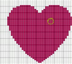 VIDEOS Knitting with two wools of different colors Knitting with two . Christmas Crochet Blanket, Blanket Crochet, Knitting Projects, Knitting Patterns, Knitted Heart, Tapestry Crochet, Perler Beads, Beading Patterns, Pixel Art