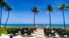 The #view  of the Indian Ocean from The Verandah restaurant at  #gallefacehotel  overlooking the famous Chequerboard. #TravelTuesday   #Colombo   #SriLanka   #heritage   #hotel   #travel   #sun   #ocean