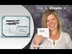 How to make a Masked Cloudy Sky Background with Stampin Up Sale a Bration on Vimeo