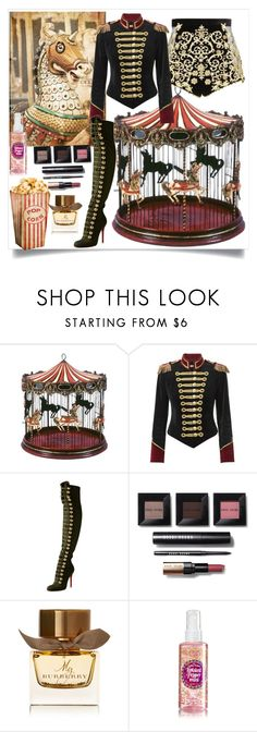 """Circus #12 🎪"" by katya01 ❤ liked on Polyvore featuring Pinky Laing, Christian Louboutin, Bobbi Brown Cosmetics, Burberry and circus"