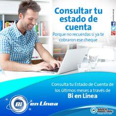 Consulta tu estado de cuenta a través de Bi en Línea desde cualquier computadora. #BiEnLinea #ProductosYServicios #BancoIndustrial