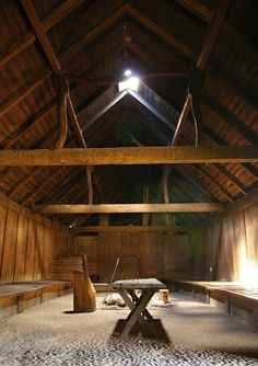 Nave Interior of Danish longhouse  by Joko-Facile, via Flickr