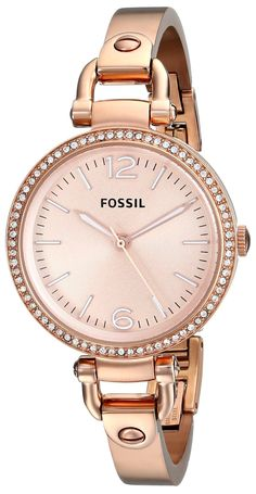 women's watches   Review for Fossil Women's ES3226 Georgia Analog Display Analog Quartz Rose Gold Watch