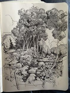 Twitter / ianmcque: Sketchbook: Forest. ...