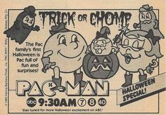 1982 Pac-Man Halloween Special TV ad