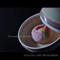 """一日一菓 「寒牡丹」 煉切 製 Wagashi of the day """"Thumb buttons"""" #和菓子 #Christmas #confetteria…"""