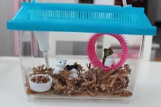 This is a super creative version of the hamster cage that come with McKenna the newest american girl doll. This is so great since the only way to get it from american girl is with the hugely expensive bed set bundle!