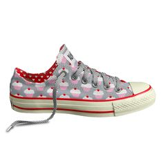 cupcake-print chucks? i wouldn't usually wear these but omg.