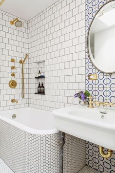 mixing patterned tile