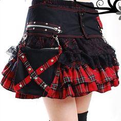 Pocket Side Tartan Rara Skirt