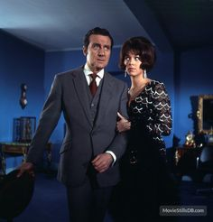 """The Avengers"" Patrick Macnee and Linda Thorson"