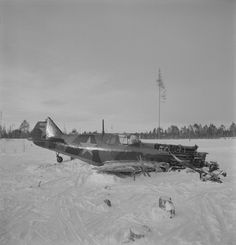 Photo: Soviet fighter LaGG-3, shot down and made an emergency landing in the Nurmolits area