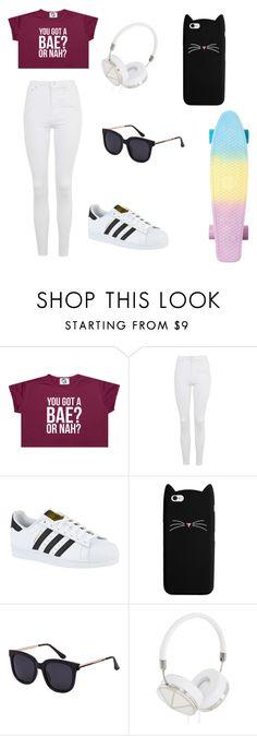 """""""Skateboarding"""" by mkelly5 ❤ liked on Polyvore featuring Topshop, adidas and Frends"""