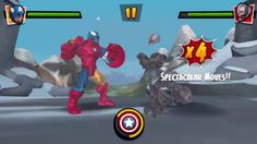 Герои Марвел.Новые Мстители. Бой с Роботом.Marvel Heroes
