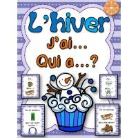 """L'hiver - jeu """"j'ai... qui a...?"""" French Education, Education And Literacy, Teaching French Immersion, French Songs, French Kids, Core French, French Christmas, French Classroom, French Resources"""