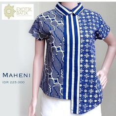 Sewing Tops For Women Blouses Fabrics 62 Super Ideas Blouse Batik Modern, Dress Batik Kombinasi, African Fashion Dresses, Fashion Outfits, Batik Couple, African Blouses, Sewing Clothes Women, Batik Fashion, Batik Dress