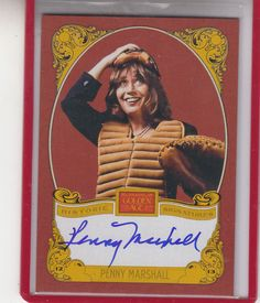"""2013 PANINI GOLDEN AGE PENNY MARSHALL """"LAVERNE & SHIRLEY""""  AUTOGRAPH AUTO"""