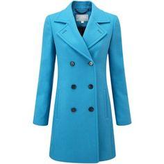 Pure Collection Kensington Pea Coat, True Blue