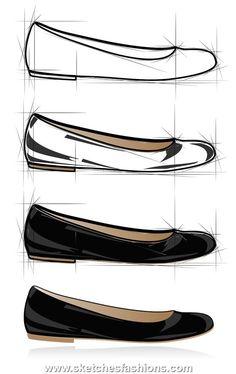low shoe design sketch