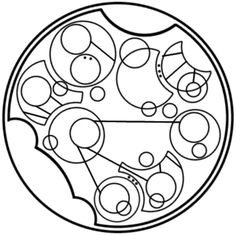 """""""No power on this earth can stop me"""" written in circular Gallifreyan"""