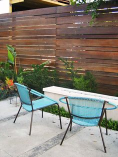 Venice Backyard Fence by apartmenttherapy_la, via Flickr