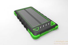 Solar outdoor polymer 8000 mAh cell phone charger solar power bank gift