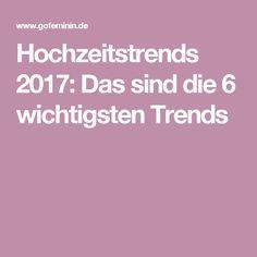 Hochzeitstrends 2017: Das sind die 6 wichtigsten Trends