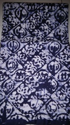 Indigo Blue Color African batik fabric by the yard / African cotton print/ Fabrics made in Africa/ African Batiks/ Head wraps