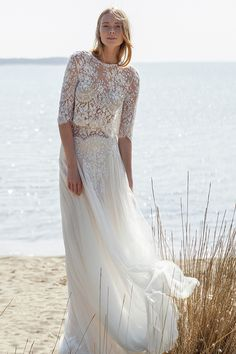 bohemian bride wedding dress
