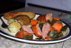 Kielbasa Sausage, Collard Greens, Serving Size, Food Photo, Stew, Veggies, Stuffed Peppers, Dishes