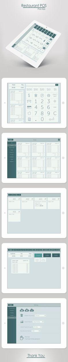 Restaurant POS - iPad App on Behance: