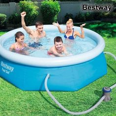 Bestway Inflatable Fast Set Family Swimming Pool for sale online