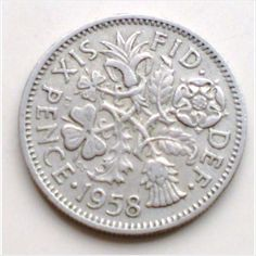 1958 British sixpence coin Queen Elizabeth II - charity Listing in the Sixpence,United Kingdom,Coins,Coins & Banknotes Category on eBid United Kingdom