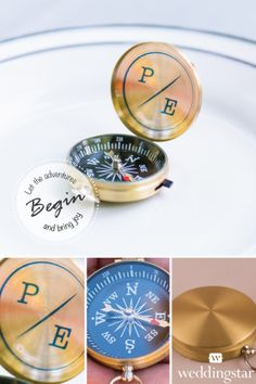 Our brand new Adventurers Compass Favor - perfect for a travel themed wedding! http://www.weddingstar.com/product/adventurers-compass-favors {wanderlust, wedding favor, wedding favour, travel, globetrotter, themed wedding favor, theme wedding}