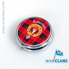 Robertson Clan Crest Pillbox Free Worldwide Shipping Available