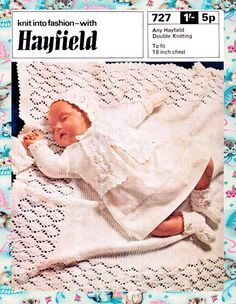 Items similar to PDF Vintage Hayfield 727 Baby Lacy Layette Knitting Pattern Christening Blanket Shawl, Matinee Antique Doll, Preemie Heirloom, Diamond on Etsy Christening Blanket, Baby Christening, Baby Knitting Patterns, Crochet Patterns, Blanket Shawl, Vintage Baby Clothes, Quick Knits, Baby Footprints, Pretty Baby