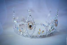 """Купить Тиара """"Wonderland"""" - серебряный, тиара, хрустальная диадема, тиара для невесты, корона для фотосессии"""