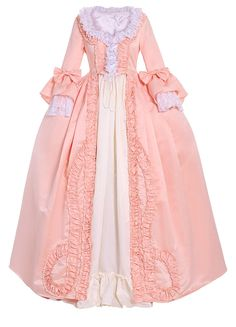 CosplayDiy Women's Rococo Ball Gown Gothic Victorian Dress Costume (S, Salmon Pink) Victorian Dress Costume, Gothic Victorian Dresses, Rococo Dress, Costume Dress, Victorian Era, 18th Century Dress, 18th Century Clothing, 18th Century Fashion, Ball Gown Dresses