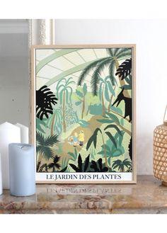 Affiche Jardin des Plantes de Simon Bailly - L'Affiche Moderne