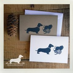 Woof Woof Gobble Gobble. Note Cards  by PickleDogDesign on Etsy